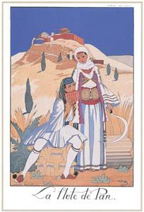 thumbnail George Barbier – La Flûte de Pan [from BARBIER COLLECTION I FASHION CALENDAR 1922-1926]