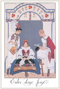 ジョルジュ・バルビエ – 板挟み [バルビエ・コレクション I FASHION CALENDAR 1922-1926より]のサムネイル画像