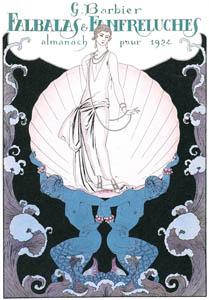 ジョルジュ・バルビエ – ファルバラ・エ・ファンフルリュシュ 1924年表紙 [バルビエ・コレクション I FASHION CALENDAR 1922-1926より]のサムネイル画像