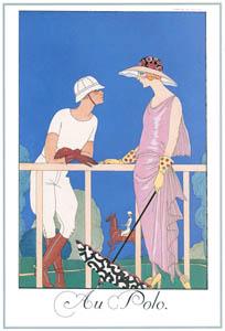 ジョルジュ・バルビエ – ポロにて [バルビエ・コレクション I FASHION CALENDAR 1922-1926より]のサムネイル画像