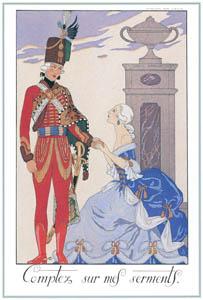 ジョルジュ・バルビエ – 私の誓いを当てにしていいよ [バルビエ・コレクション I FASHION CALENDAR 1922-1926より]のサムネイル画像