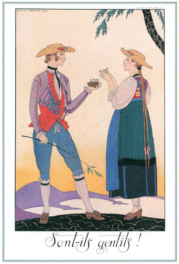 ジョルジュ・バルビエ – 彼らは素敵です! [バルビエ・コレクション I FASHION CALENDAR 1922-1926より] パブリックドメイン画像
