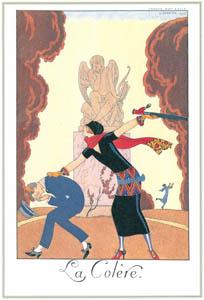 ジョルジュ・バルビエ – 怒り  [バルビエ・コレクション I FASHION CALENDAR 1922-1926より]のサムネイル画像