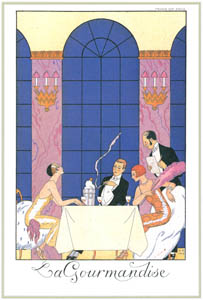 ジョルジュ・バルビエ – 食道楽 [バルビエ・コレクション I FASHION CALENDAR 1922-1926より]のサムネイル画像