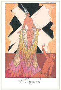 thumbnail George Barbier – L'Orgueil [from BARBIER COLLECTION I FASHION CALENDAR 1922-1926]