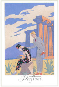 thumbnail George Barbier – Paestum [from BARBIER COLLECTION I FASHION CALENDAR 1922-1926]