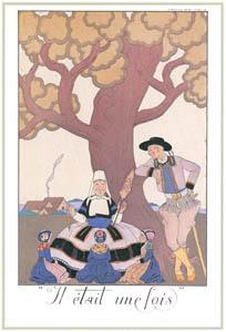ジョルジュ・バルビエ – 昔々  [バルビエ・コレクション I FASHION CALENDAR 1922-1926より]のサムネイル画像