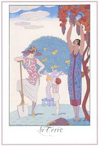 ジョルジュ・バルビエ – 地球  [バルビエ・コレクション I FASHION CALENDAR 1922-1926より]のサムネイル画像