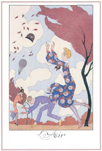 ジョルジュ・バルビエ – 風 [バルビエ・コレクション I FASHION CALENDAR 1922-1926より]のサムネイル画像