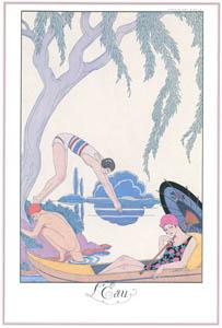 ジョルジュ・バルビエ – 水 [バルビエ・コレクション I FASHION CALENDAR 1922-1926より]のサムネイル画像