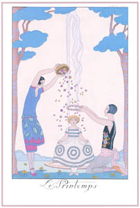 ジョルジュ・バルビエ – 春  [バルビエ・コレクション I FASHION CALENDAR 1922-1926より]のサムネイル画像