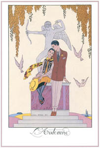 thumbnail George Barbier – L'Automne [from BARBIER COLLECTION I FASHION CALENDAR 1922-1926]