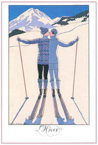 thumbnail George Barbier – L'Hiver [from BARBIER COLLECTION I FASHION CALENDAR 1922-1926]