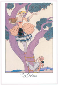 thumbnail George Barbier – Les Cerises [from BARBIER COLLECTION I FASHION CALENDAR 1922-1926]