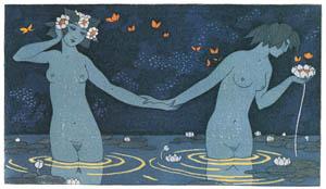 thumbnail George Barbier – Le Vieillard et les Nymphes [from BARBIER COLLECTION II LES CHANSONS DE BILITIS]