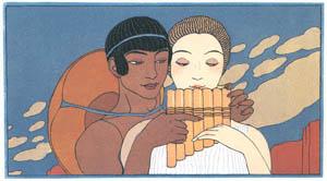thumbnail George Barbier – La Flûte  [from BARBIER COLLECTION II LES CHANSONS DE BILITIS]