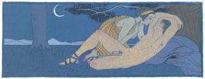 thumbnail George Barbier – La Nuit [from BARBIER COLLECTION II LES CHANSONS DE BILITIS]