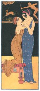 thumbnail George Barbier – Le Désir [from BARBIER COLLECTION II LES CHANSONS DE BILITIS]