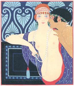 thumbnail George Barbier – Les Trois Beautés de Mnasidika [from BARBIER COLLECTION II LES CHANSONS DE BILITIS]