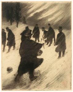 thumbnail Henri Rivière – Partie funèbre [from Maître français de l ukiyo-e Henri Rivière]