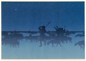thumbnail Henri Rivière – Portfolio « La Marche à l'Étoile » Les Bergers [from Maître français de l ukiyo-e Henri Rivière]