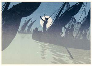 thumbnail Henri Rivière – Portfolio « La Marche à l'Étoile » Les Pêcheurs [from Maître français de l ukiyo-e Henri Rivière]