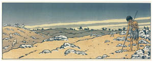 thumbnail Henri Rivière – Affiche « L'Enfant prodigue » [from Maître français de l ukiyo-e Henri Rivière]