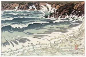 アンリ・リヴィエール – 「海、波の研究」 波の後の泡(トレブル) [フランスの浮世絵師 アンリ・リヴィエール展より]のサムネイル画像