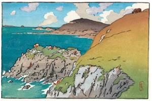 アンリ・リヴィエール – 「ブルターニュ風景」 ラ・エ岬 [フランスの浮世絵師 アンリ・リヴィエール展より]のサムネイル画像