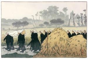 thumbnail Henri Rivière – « Paysages bretons » Enterrement à Trestraou [from Maître français de l ukiyo-e Henri Rivière]