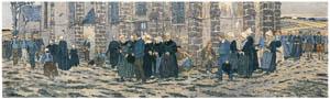 アンリ・リヴィエール – 「ブルターニュ風景」 サント=アンヌ=ラ=パリュ教会の贖罪祭 [フランスの浮世絵師 アンリ・リヴィエール展より]のサムネイル画像
