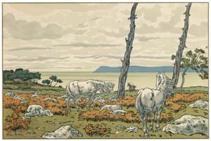アンリ・リヴィエール – 「自然の様相」 入江 [フランスの浮世絵師 アンリ・リヴィエール展より]のサムネイル画像