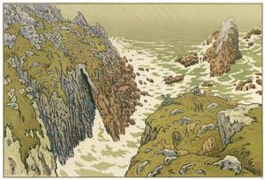 アンリ・リヴィエール – 「自然の様相」 断崖 [フランスの浮世絵師 アンリ・リヴィエール展より]のサムネイル画像