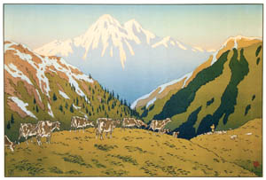 thumbnail Henri Rivière – « Les Aspects de la nature » La Montagne [from Maître français de l ukiyo-e Henri Rivière]