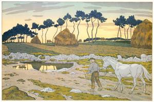 アンリ・リヴィエール – 「自然の様相」 黄昏 [フランスの浮世絵師 アンリ・リヴィエール展より]のサムネイル画像