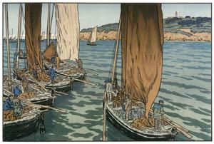 アンリ・リヴィエール – 「美し国ブルターニュ」 トレブルの船出 [フランスの浮世絵師 アンリ・リヴィエール展より]のサムネイル画像