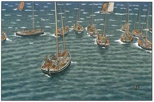 アンリ・リヴィエール – 「美し国ブルターニュ」 トレブルの舫い船 [フランスの浮世絵師 アンリ・リヴィエール展より]のサムネイル画像