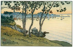 アンリ・リヴィエール – 「美し国ブルターニュ」 ドゥアルヌネの港 [フランスの浮世絵師 アンリ・リヴィエール展より]のサムネイル画像