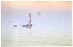 アンリ・リヴィエール – 「美し国ブルターニュ」 海の霧 [フランスの浮世絵師 アンリ・リヴィエール展より]のサムネイル画像