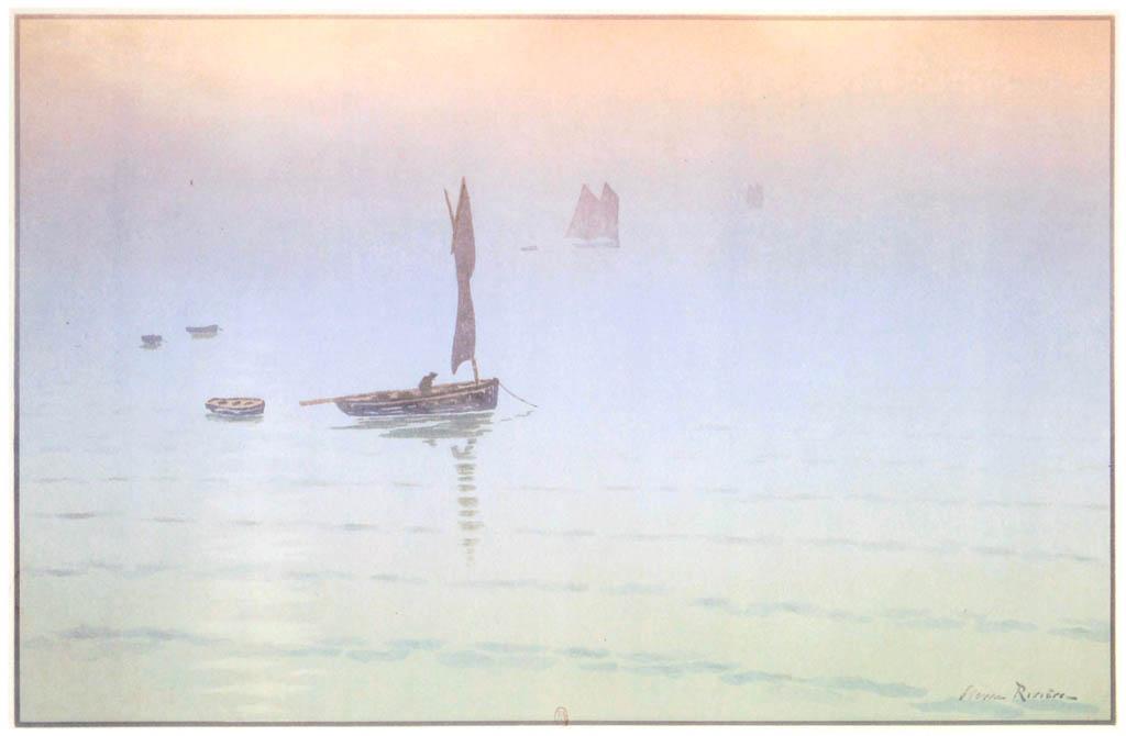 Henri Rivière – « Le Beau Pays de Bretagne » Brume en mer [from Maître français de l ukiyo-e Henri Rivière]
