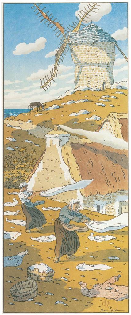Henri Rivière – « La Féerie des heures » Le Vent [from Maître français de l ukiyo-e Henri Rivière]