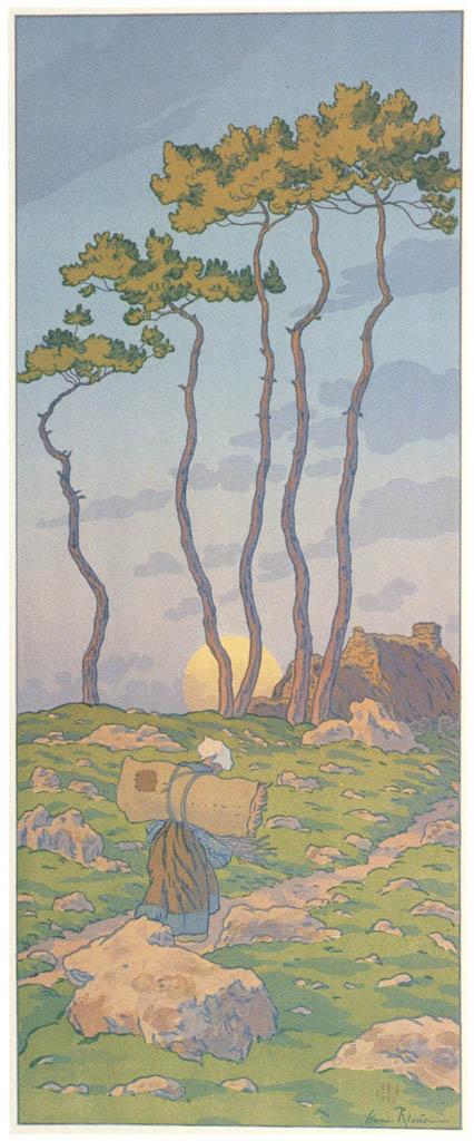 Henri Rivière – « La Féerie des heures » La Pleine lune [from Maître français de l ukiyo-e Henri Rivière]