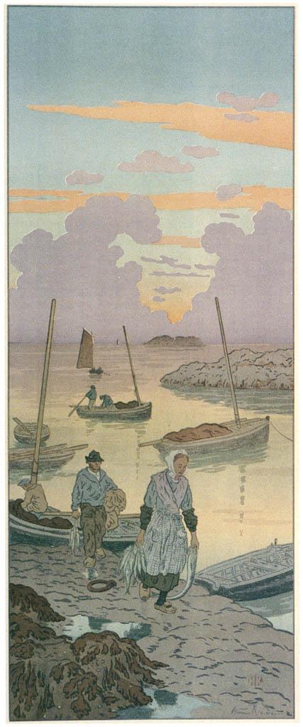 Henri Rivière – « La Féerie des heures » Le Crépuscule [from Maître français de l ukiyo-e Henri Rivière]
