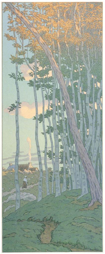 Henri Rivière – « La Féerie des heures » Les Derniers rayons [from Maître français de l ukiyo-e Henri Rivière]
