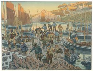 thumbnail Henri Rivière – « Au vent de Noroît » Les Vieux [from Maître français de l ukiyo-e Henri Rivière]