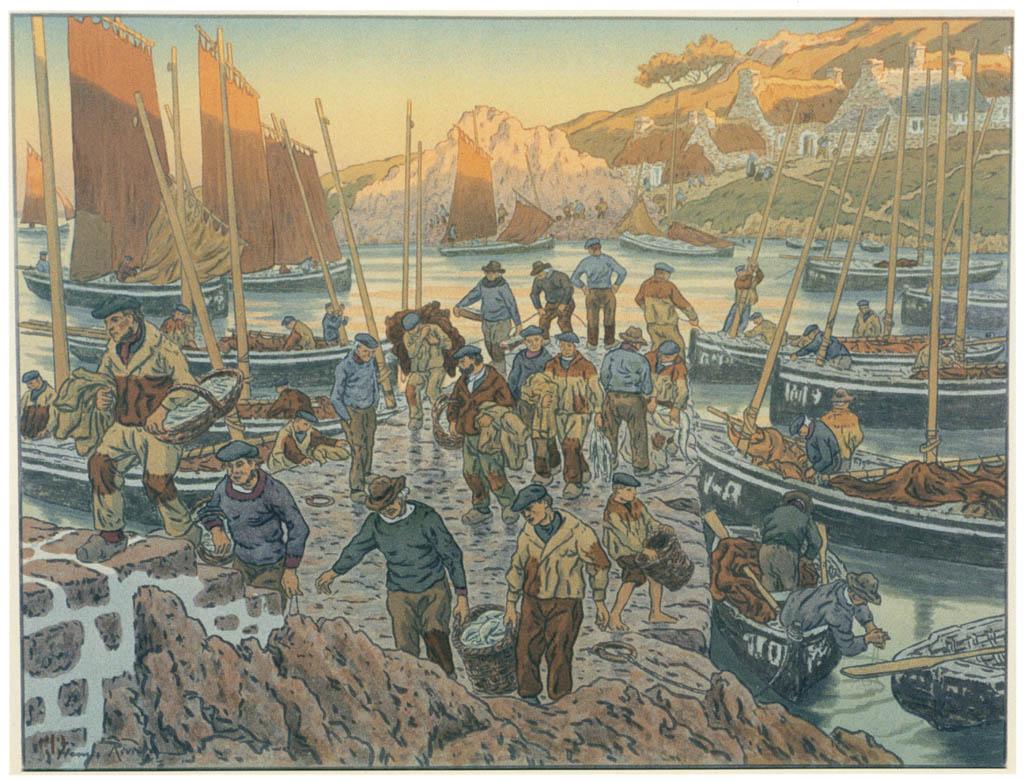 Henri Rivière – « Au vent de Noroît » Les Vieux [from Maître français de l ukiyo-e Henri Rivière]