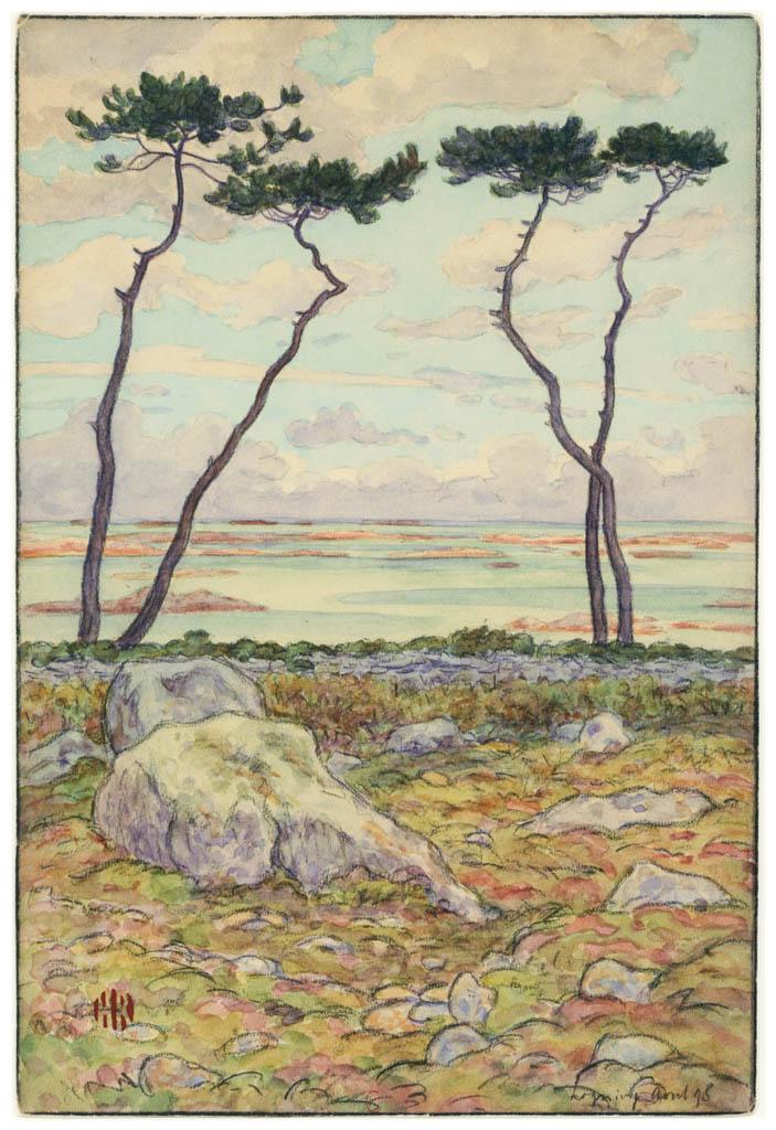 Henri Rivière – Loguivy, avril 1898 [from Maître français de l ukiyo-e Henri Rivière]