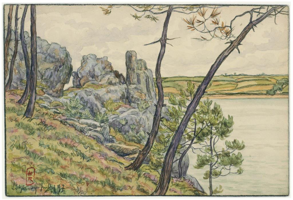 Henri Rivière – Loguivy, juillet 1897 [from Maître français de l ukiyo-e Henri Rivière]