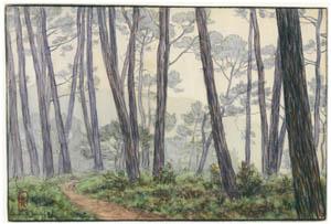 アンリ・リヴィエール – ロギヴィ、1897年7月(ブルターニュ風景) [フランスの浮世絵師 アンリ・リヴィエール展より]のサムネイル画像