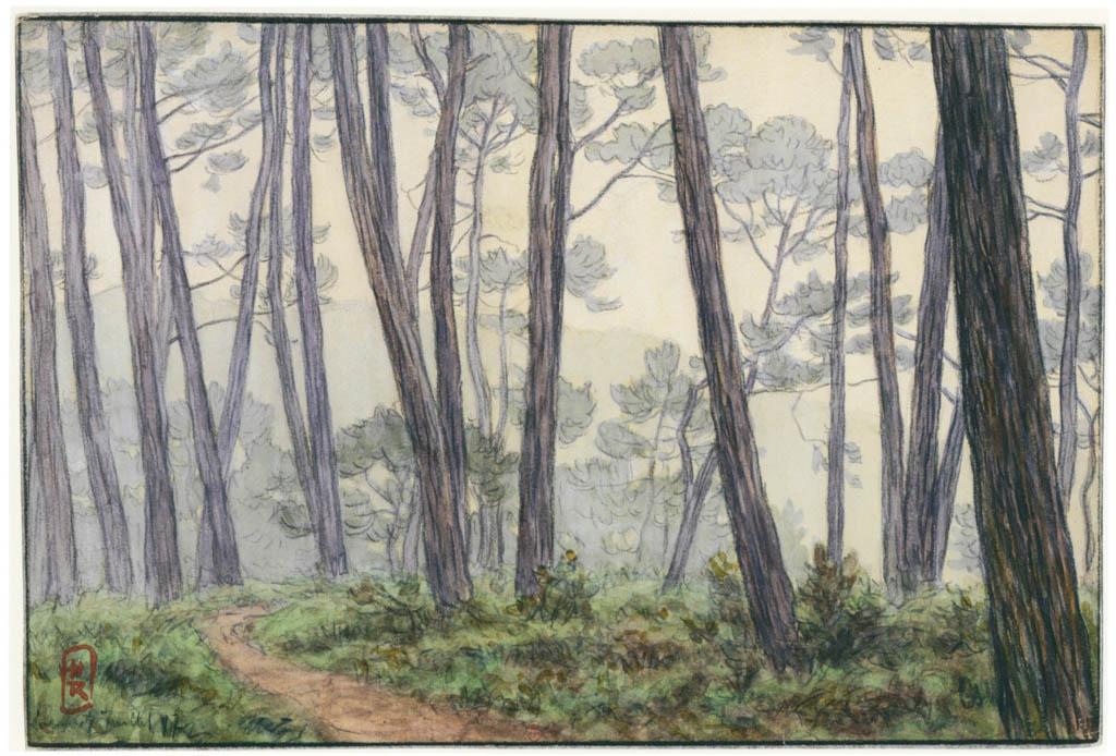 アンリ・リヴィエール – ロギヴィ、1897年7月(ブルターニュ風景) [フランスの浮世絵師 アンリ・リヴィエール展より] パブリックドメイン画像